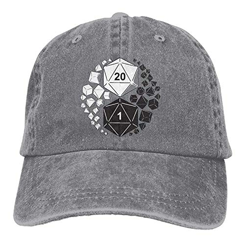 WYYCLD Dungeons and Dragons Yin Yang Unisex Adjustable Baseball Caps Denim Hats Cowboy Sport Outdoor