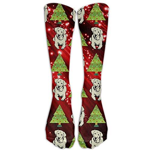 Bag hat Unisex Chirstmas Tree Labrador Retriever Mid Calf Athletic Sports Socks Tube Stockings One Size