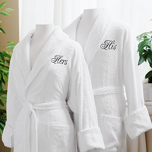 926b2cae36 21% OFF on Ahmedabad Cotton Premium His   Hers Plush Terry Bathrobe Set -  Free Size on Amazon