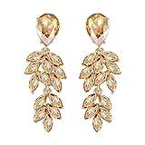 Mecresh oro grappolo in cristallo a goccia in filigrana lampadario orecchini da sposa bene gioielli per donne spose damigella d' onore.