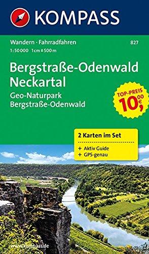 Preisvergleich Produktbild Bergstraße-Odenwald - Neckartal - Geo-Naturpark Bergstraße-Odenwald: Wanderkarten-Set mit Aktiv Guide in der Schutzhülle. GPS-genau. 1:50000 (KOMPASS-Wanderkarten, Band 827)