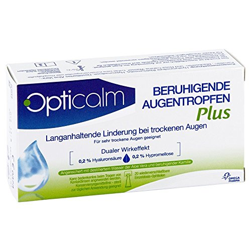 Opticalm Augentropfen Plus, 20 x 0.5 ml, 1er Pack (1 x 5 ml)