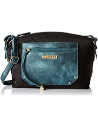 Caprese Brienne Women's Sling Bag (Metallic Green)