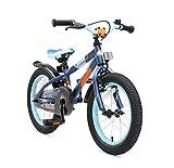 BIKESTAR Bicicleta Infantil para niños y niñas a Partir de 4 años | Bici de montaña 16 Pulgadas con Frenos | 16' Edición Mountainbike Azul