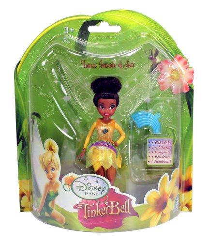 Disney Fairies Feen Puppen 10cm mit Leuchtflügel (gelb) - Klara (Puppen Disney Feen)