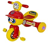 #10: e-YOP Mr. Ramboo Baby Tricycle (2-3 years kids with Music, Foldable, Easy to Ride) (Red)