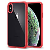 Spigen Coque iPhone XS, Coque iPhone X, [Ultra Hybrid] AIR Cushion [Red]...