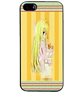 PrintDhaba Long Hair Girl D-4082 Back Case Cover for APPLE IPHONE 4S (Multi-Coloured)
