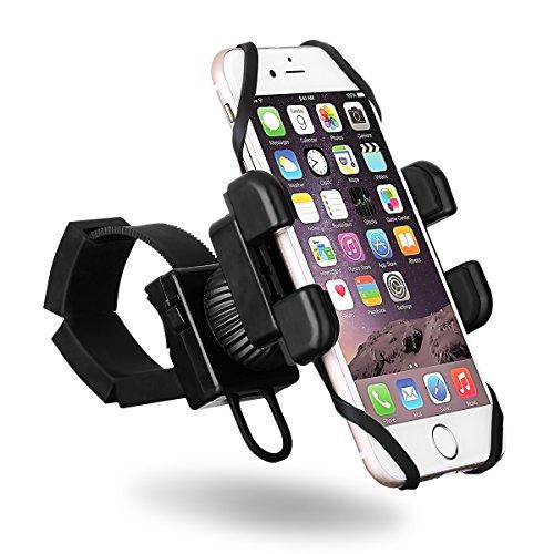 Supporto Bici Smartphone VicTsing Cellulare 4'' a 6'' per Bicicletta, Mount Holder Universalre Manubrio Regolabile 360° Cinturino in Gomma Telefoni con Larghezza 5,5~8,5 cm, Compatibile con iPhone 7/7 Plus/6/6S/5S/5C/SE, Galaxy S7/S6/S5, Huawei Xiaomi HTC LG GPS, per Bicicletta Moto Stroller con Diametro 1~8,5 cm,