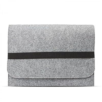 eFabrik Schutztasche für Lenovo ThinkPad X1 Yoga Tasche aus Filz (Auch für ThinkPad X1 Carbon geeignet) Ultrabook Filztasche Laptop Case Sleeve Soft Cover Schutzhülle Sleeve hell grau