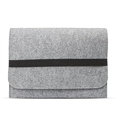 eFabrik Schutztasche für Lenovo ThinkPad X1 Yoga Tasche aus Filz (Auch für ThinkPad X1 Carbon geeignet) Ultrabook Filztasche Laptop Case Sleeve Soft Cover Schutzhülle Sleeve hell