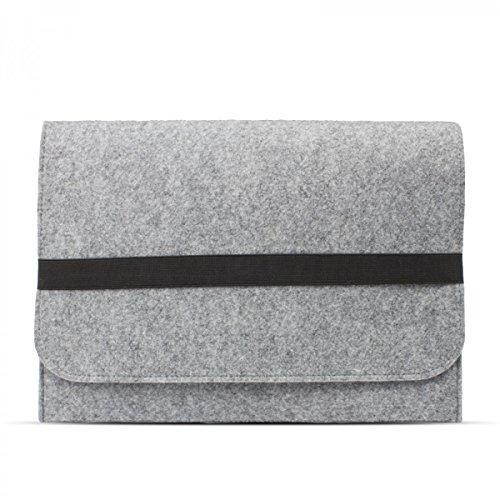 eFabrik Schutz Tasche für HP ProBook 430 G4 / G3 (13,3 Zoll) Hülle Ultrabook Laptop Case Soft Cover Schutzhülle Sleeve Filz hell grau