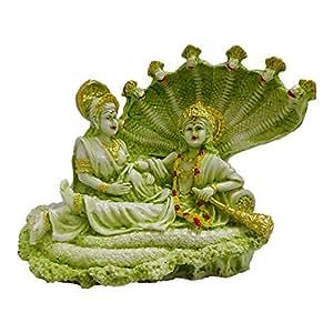 FABZONE Lord Laxmi Vishnu/God Vaikunth Sculputer Narayana Idol Statue Showpiece Figurine - Religious Gift Item Home Décor/Office / Temple