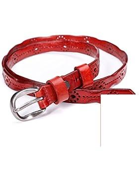 Retros Cinturones Huecos/Cinturón Multiuso De Moda-rojo 115cm(45inch)