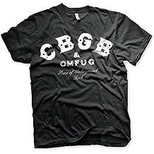 Offizielles Lizenzprodukt CBGB & OMFUG Logo Herren T-Shirt (Schwarz)