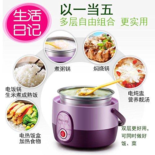 Die Heizung ist modern und stilvoll, Lunchboxen All-City Home Gedünsteter Reis ist die elektrisch beheizten warmen, modernen und stilvollen Lunchboxen All-City Home Dampf Modern und stilvoll Lunchboxen All-City Home Mini, Violett
