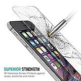 G4GADGET Verre Trempé Protecteur d'Écran pour iPhone 6S Plus/iPhone 6(14,5cm) Plus Premium Crystal Clear–Industry-high Dureté 9H...