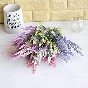 LbojailiAi Flor Artificial 1 Pieza de Plantas Artificiales de Flores de Lavanda Falsas decoraci¨®n de la Oficina del…