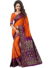 Shivalika Tex Women's Bhagalpuri Art Silk Printed Sarees