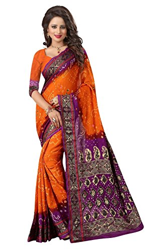 Vivera Women's bandhni Saree with Blouse piece(VRBADHANI2_2x20ii)  available at amazon for Rs.399