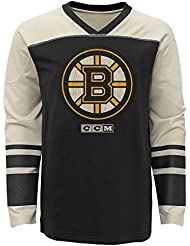 "Boston Bruins CCM NHL ""Better Days"" Youth Jeunes Long Sleeve Crew Shirt Chemise"