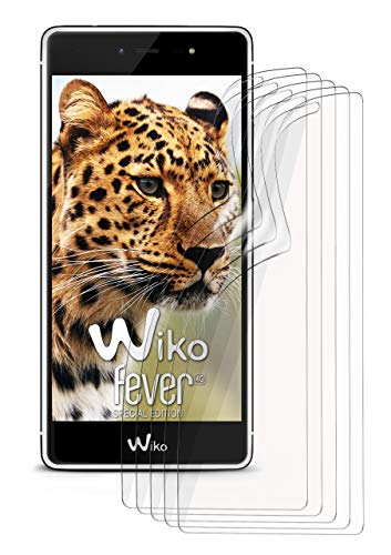 moex 5X Wiko Fever SE | Schutzfolie Klar Bildschirm Schutz [Crystal-Clear] Screen Protector Display Handy-Folie Dünn Bildschirmschutz-Folie für Wiko Fever Special Edition Bildschirmfolie
