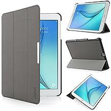 iHarbort® Samsung Galaxy Tab S2 9.7 Funda - ultra delgado ligero Funda de piel de cuerpo entero para Samsung Galaxy Tab S2 9.7 T810 , con la función del sueño / despierta (Galaxy Tab S2 9.7, gris)