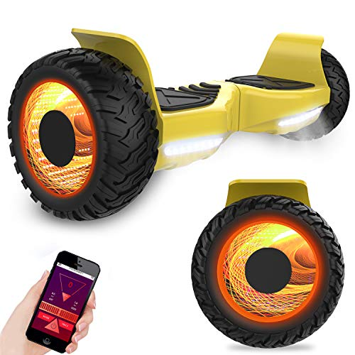 Kategorie <b>Zweirad E-Board (Hoverboard) </b> - GeekMe Off-Road Elektro Scooter Elektroroller 8.5 '' SUV Hummer Gelände intelligenter Self Balance Scooter Fantastische LED-glühende Räder mit Bluetooth-Funktion