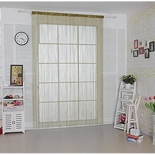 Taiyuhomes Spaghetti String Door Net Curtain As Insect Bug Fly Screen For  Doorway Patio Divider Or Window Curtain Panel Decor(90x245cm,Ecru)
