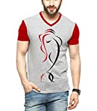 #7: Tripr Men's V-Neck Printed Tshirt Ganesh