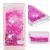 BONROY Handyhülle,Cover TPU Bumper Silikon Flüssigkeit Treibsand Clear Schutzhülle für Case Huawei Honor 4C / G Play Mini Handy Hüllen-(Rosa)