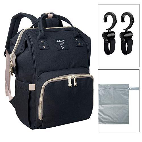 Baby Wickeltasche Reise Rucksack, Isolierte Tasche, Wasserdicht Stoffe, Multifunktion, Passform für Kinderwage, Große Kapazität Modern Einzigartig Tragbar Handtasche Organizer