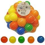 bällebad24 - Set di 50 Palline Colorate in plastica, 5,5 cm, per Piscina, Senza plastificanti pericolosi, 5 Colori Assortiti