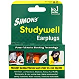 Simon's Studywell Earplug Reusable Silicone with Carry Case (STS-3, Yellow) - 3 Pairs