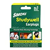 #8: Simon's Studywell Earplug Reusable Silicone with Carry Case (STS-3, Yellow) - 3 Pairs