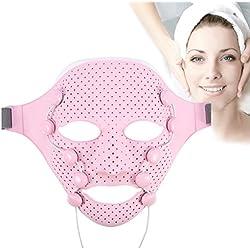 Sonew Appareil à Ultrason Visage Anti Age Luminotherapie Appareil Masque 3D Vibration magnétique Masseur Facial acupoints Massage Visage Masque Spa