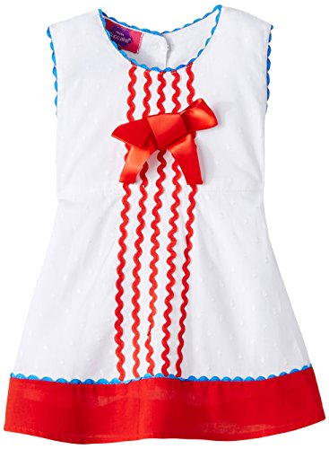 Cupcake Baby Girls' Dress (M9-9-2471_White_6 months)