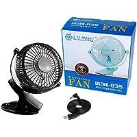 Dooret Mini USB Fan Mute Velocidad del viento natural Cama ajustable Ventilador de ventilador Giratorio de 360 grados Ventilador pequeño para Home Student Dorm