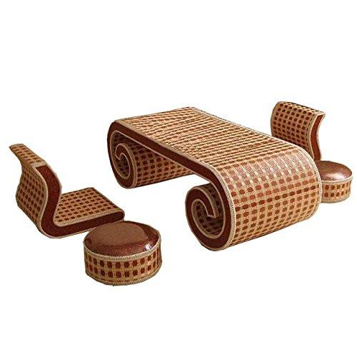 Natürlichen bambus - rattan wicker schreibtisch und stuhl set / tisch und stuhl gesetzt / schreibtische und sessel satz / sitzer / sessel / couchtisch / teetisch / couchtisch / beistelltisch / ende tabelle