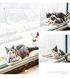 Ecotek Cat Hamaca desmontable häng Extremos cama Verano gato gato dispersa Hamaca Columpio ventosa Distressed Ventana Tabla Matte doméstica Animales requisitos