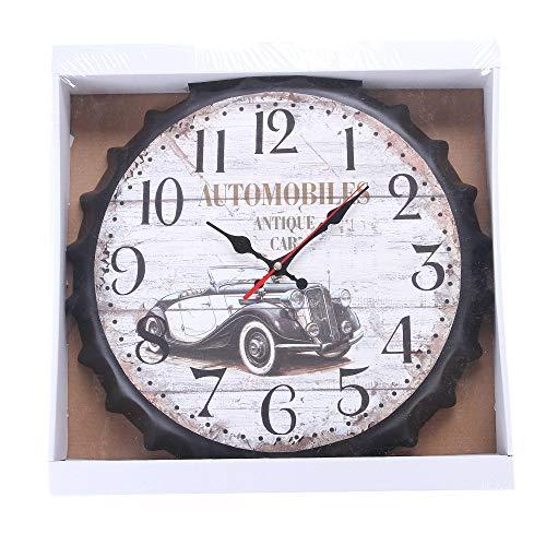 Yxmxxm orologio shabby chic - orologio da parete muto senza ticchettio per cafe loft hotel - orologio da cucina rotondo stile vintage (13,7 pollici),2