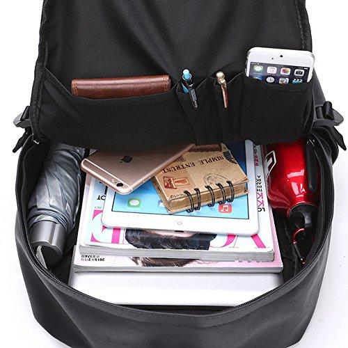e356561012 Esther Beauty Uomo Nero in Pelle PU Zaino per laptop College Zaino Casual  Zaino Scuola Borse da viaggio