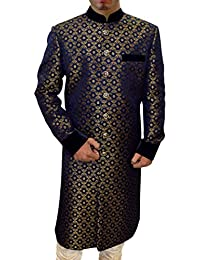 INMONARCH Mens Cream 2 Pc Indo Western Embroidered Work IN04211