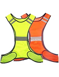 réfléchissant Gilet de sécurité de course à pied Cyclisme Pour Chien Marche de sécurité Sports Gear haute visibilité pour adultes enfants avec poche