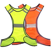 Reflective Safety Vest Running Cycling Dog Walking Safety Sports Gear High Visibility for Adults Childrenwith Pocket