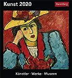 Kunst Kulturkalender. Tischkalender 2020. Tageskalendarium. Blockkalender. Format 15,4 x 16,5 cm
