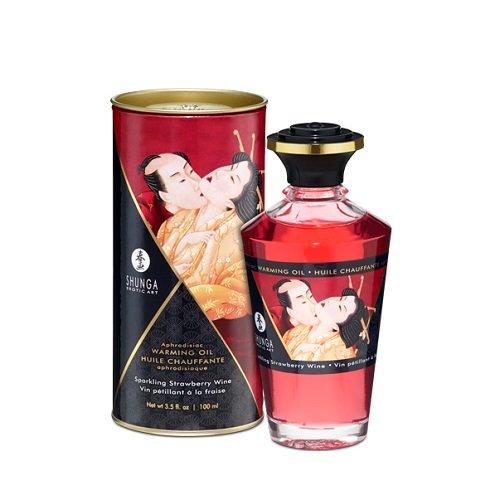 SHUNGA - 340000091818 - Intimate Kisses - Huile de massage fraise/champagne - 100 ml
