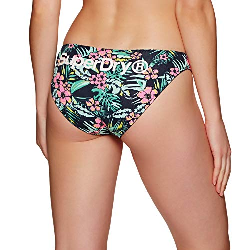 Superdry Damenslips Dreierpack SUPER Standard Brief Triple Bright Aqua Tropical Navy Dot, Größe:XS