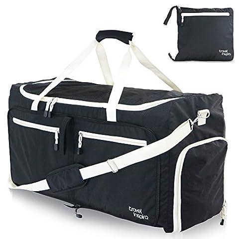 travel inspira 85L Grande Sac de Voyage Pliable Sac de Voyage Packable Polochon Sac de Gymnastique et de Sport