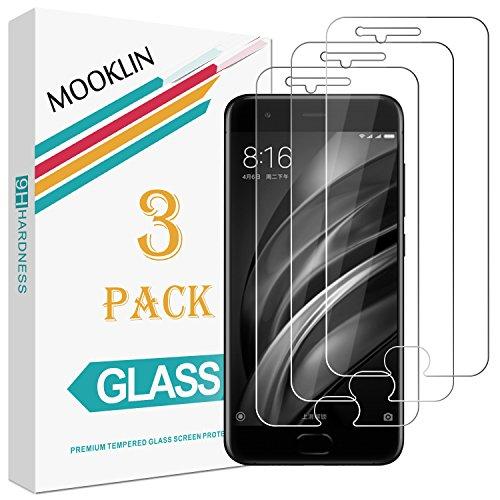 [3 Stück] MOOKLIN Xiaomi Mi 6 Panzerglas Displayschutzfolie,[Anti-Kratzen] Handy Schutzfolie für Xiaomi Mi - Mi 3-xiaomi Handy